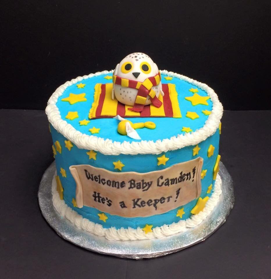 harry potter baby shower cake
