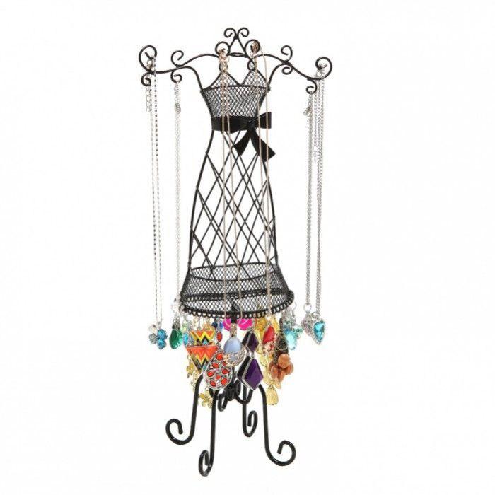 Amazoncom Black Metal Scrollwork Dress Form Necklace Hanger