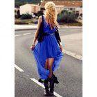 Cobalt Hi Lo dress... Bqueen Fish Swallowtail Chiffon Dress Blue BY068L