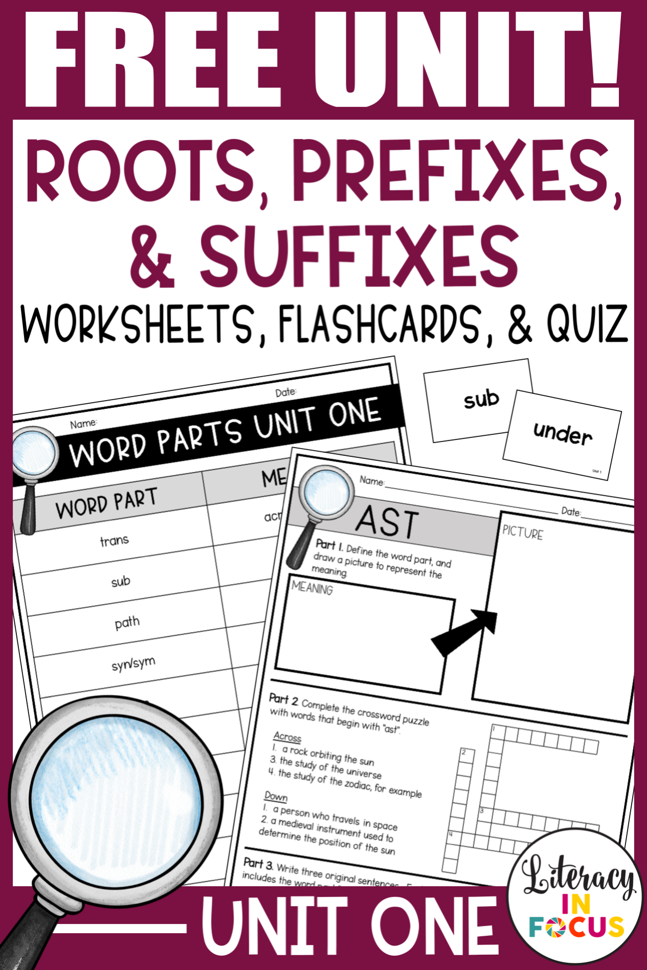 Root Words Prefixes Amp Suffixes Unit 1 Free In