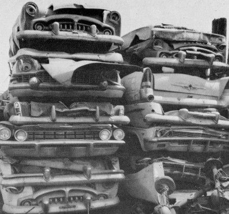 1960's junk yard | abandoned cars | Wrecking yards, Abandoned cars