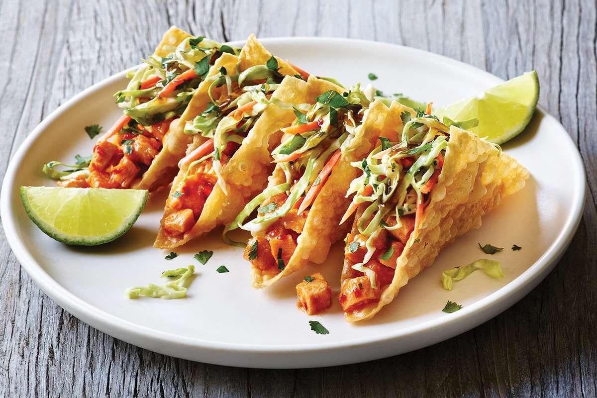 Applebee's Bellevue Chicken wontons, Wonton tacos
