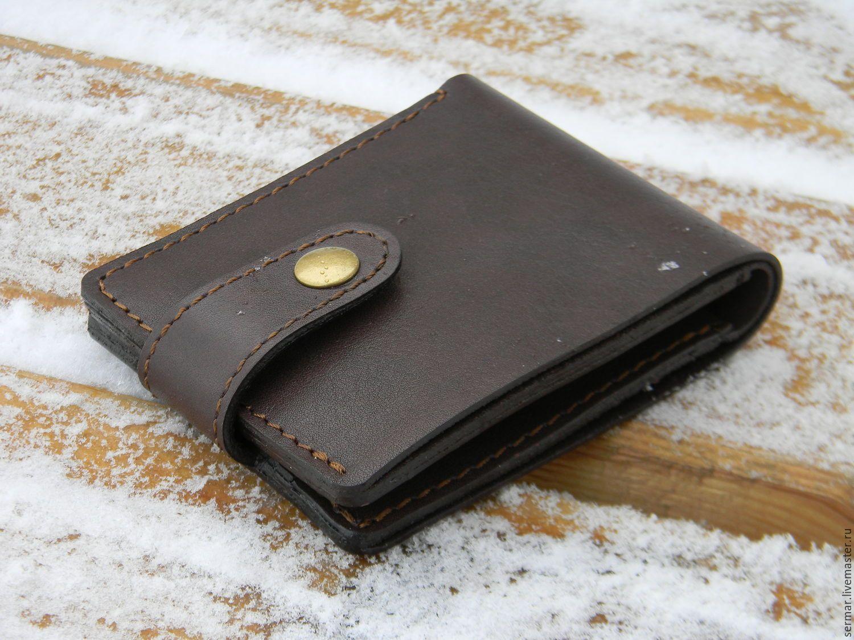 a2fc3d494f3c Купить Мужской кошелёк,кожа. - рыжий, однотонный, мужской кошелек, мужской  кожаный