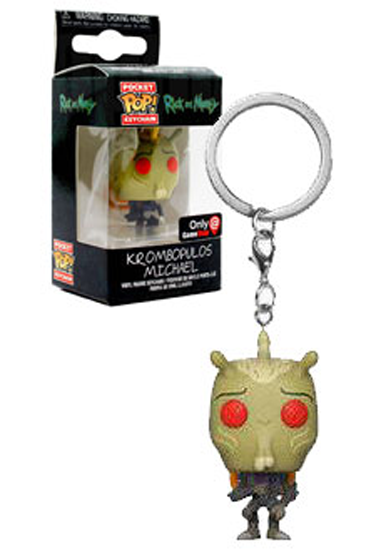 EXCLUSIVE EDITION* Funko Pocket POP Rick And Morty KROMBOPULOS MICHAEL Keychain