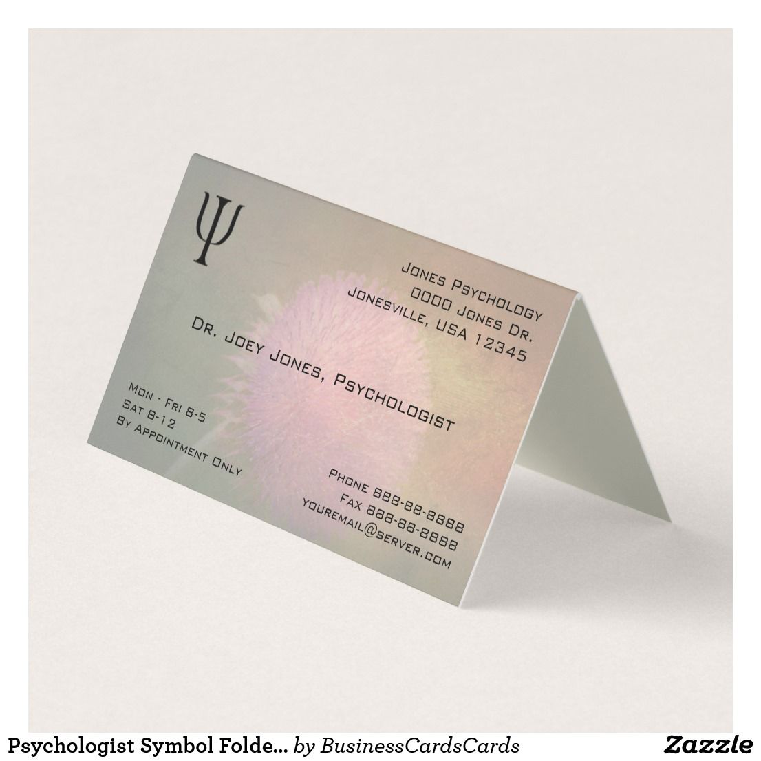 Psychologist Symbol Folded Business Business Card | Business cards ...