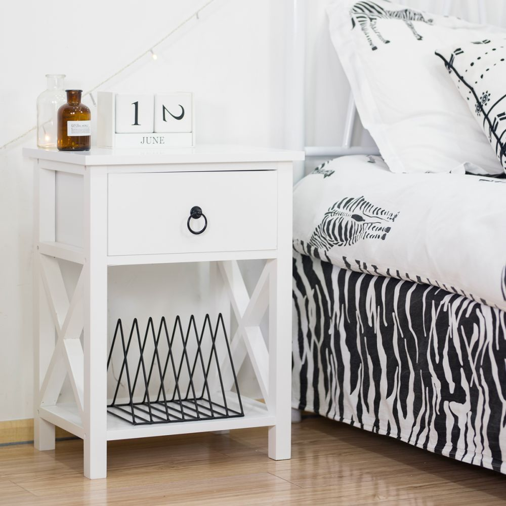 Bookshelf Nightstand Organizer End Table in 2020 (With images)