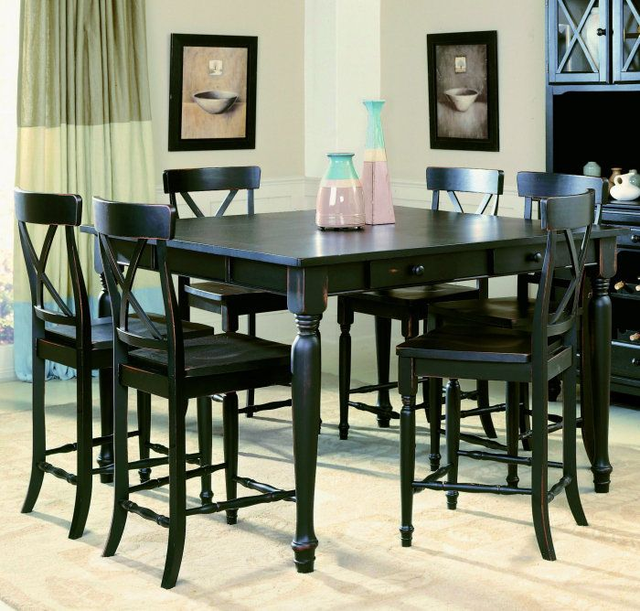 Easy On The Eye Black counter height dining table sets | dining ...