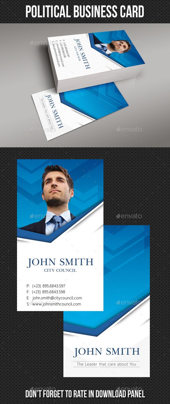 political business card template  card templates business cards