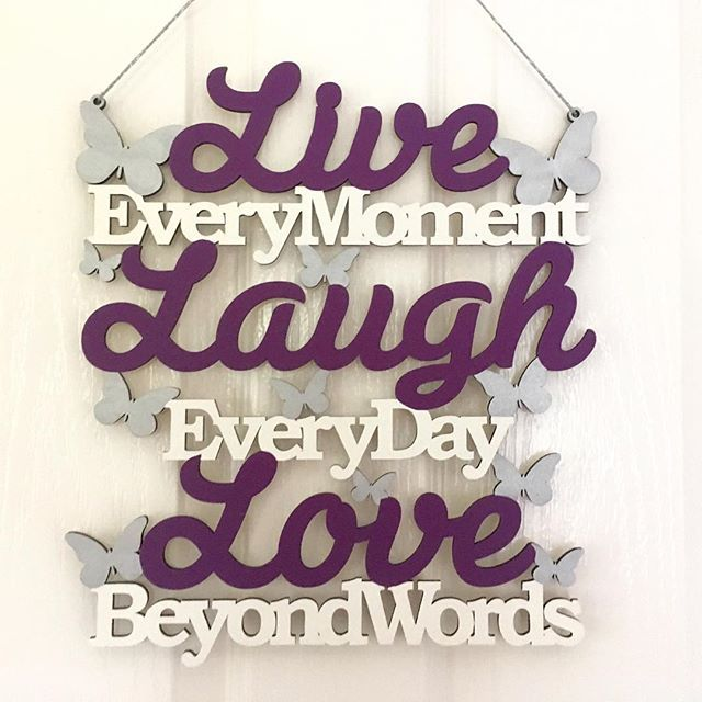 This has just been added to the shop. It's proving s very popular colour scheme! #sarahsprettylittleplaques #livelaughlove #plaques #purpledecor #etsyshop #etsyseller #etsyukseller #etsyuk #etsyukshop