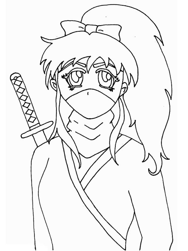 Long Haired Ninja Girl Coloring Page Download Print Online Coloring Pages For Free Color N Coloring Pages For Girls Online Coloring Pages Online Coloring
