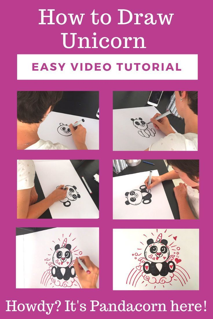 How to Draw a Pandacorn Cute and Easy in 2020 | Unicorn ...