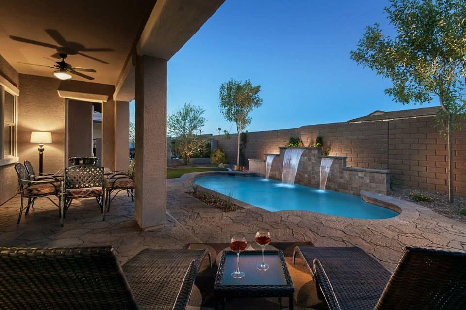 Arizona backyard | Small backyard pools, Backyard, Desert ...