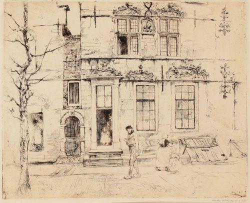 Walter Vaes: Schotse Huis (Ets & Aquatint)