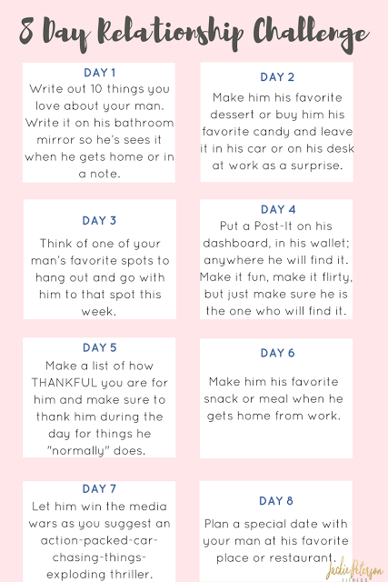 8 Day Relationship Challenge Valentine's Gift Guide for Him