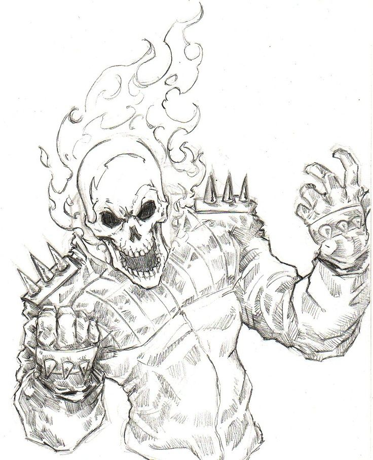 Cool Ghost Rider Coloring Pages Soloring Pages For All Ages Ghost Rider Drawing Ghost Rider Marvel Ghost Rider
