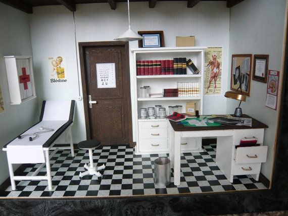 DOCTOR OFFICE by miniatureinteriors on Etsy, $690.00 #doctoroffice