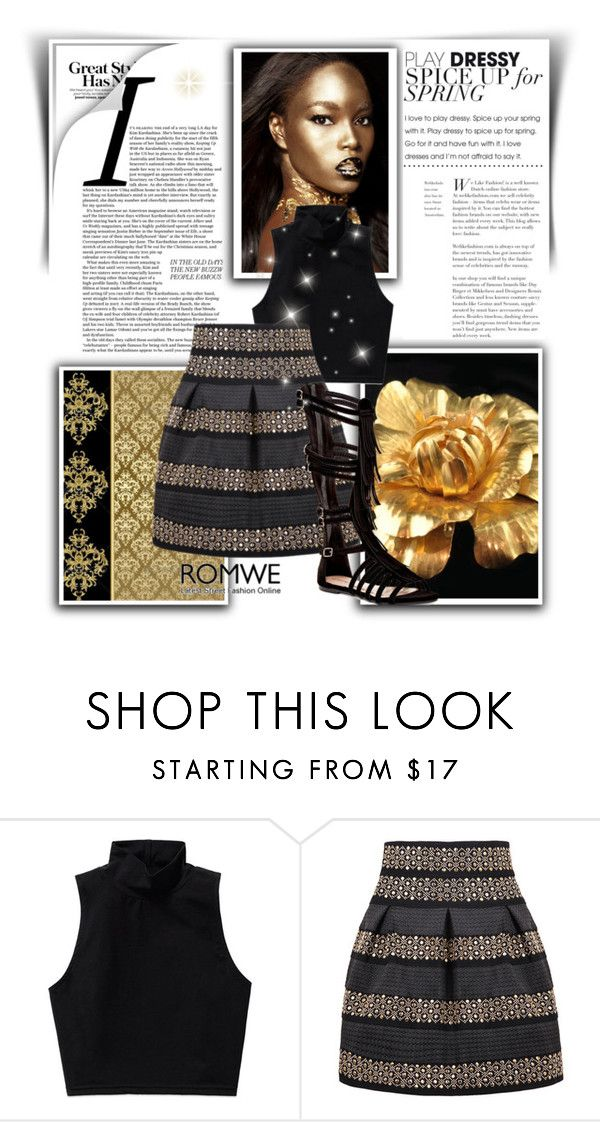 """""""gold"""" by djanel-reed ❤ liked on Polyvore featuring Talula and Top Guy"""
