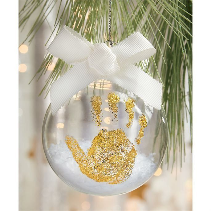 3piece set Ornament kit features glass ball ornament filled with