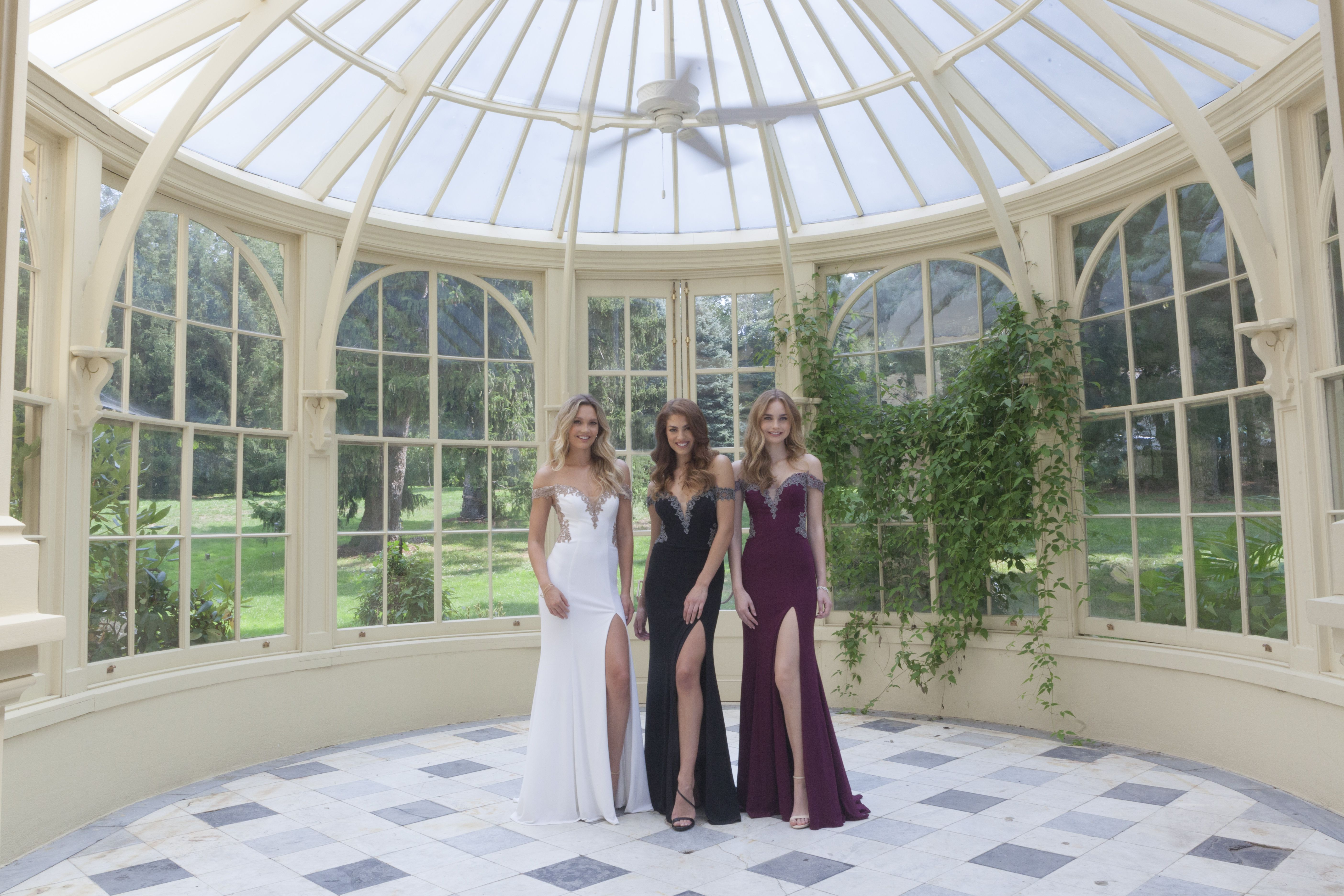Look so glam with your squad in these offtheshoulder prom dresses
