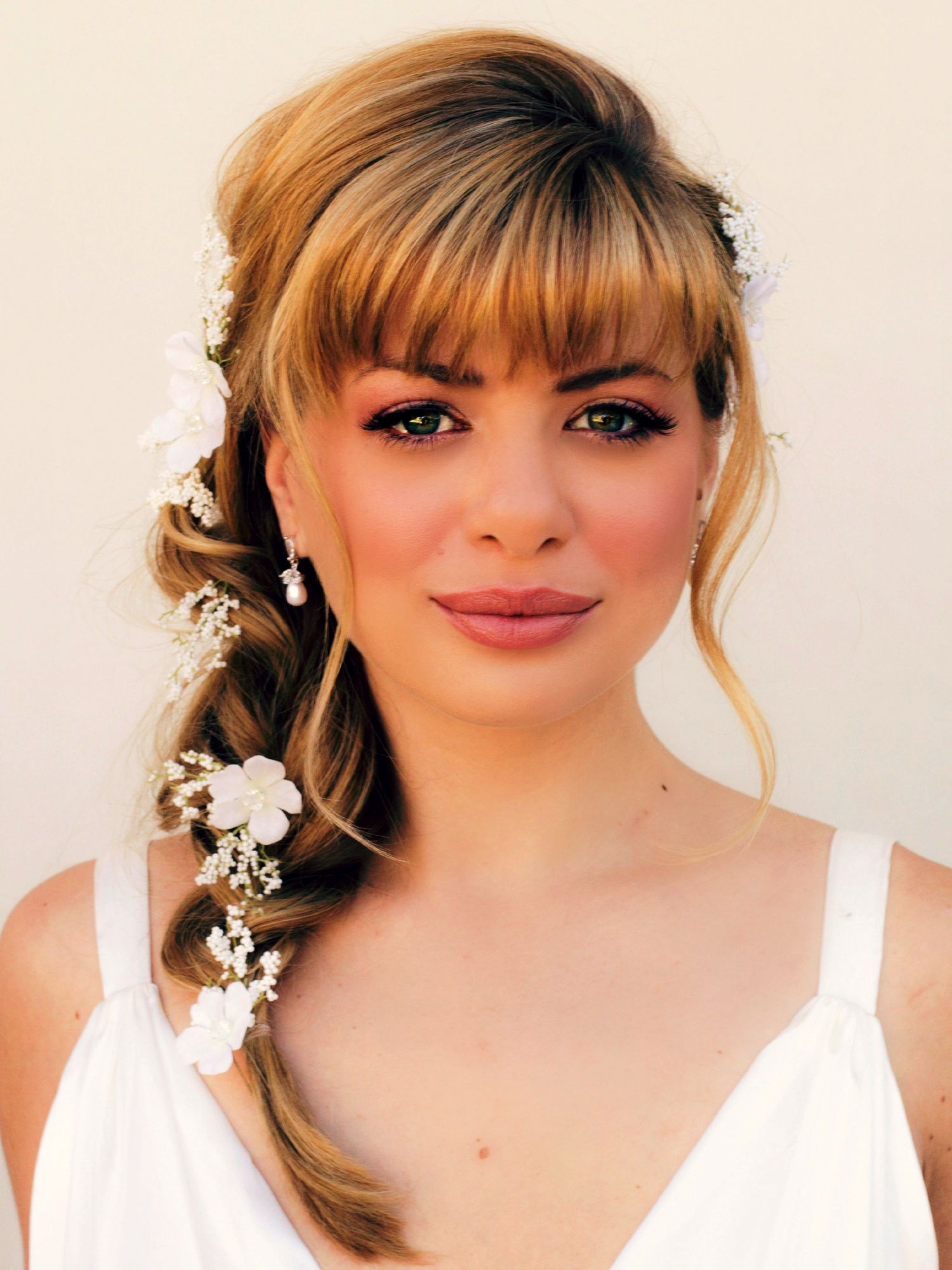 Wedding hairstyle with bangs wedding hairstyles pinterest