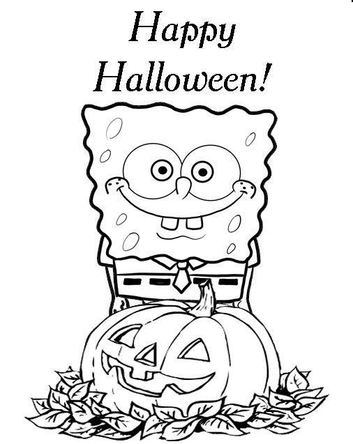 Spongebob Printable Halloween Coloring Pages Halloween Coloring Pages Spongebob Coloring Free Halloween Coloring Pages