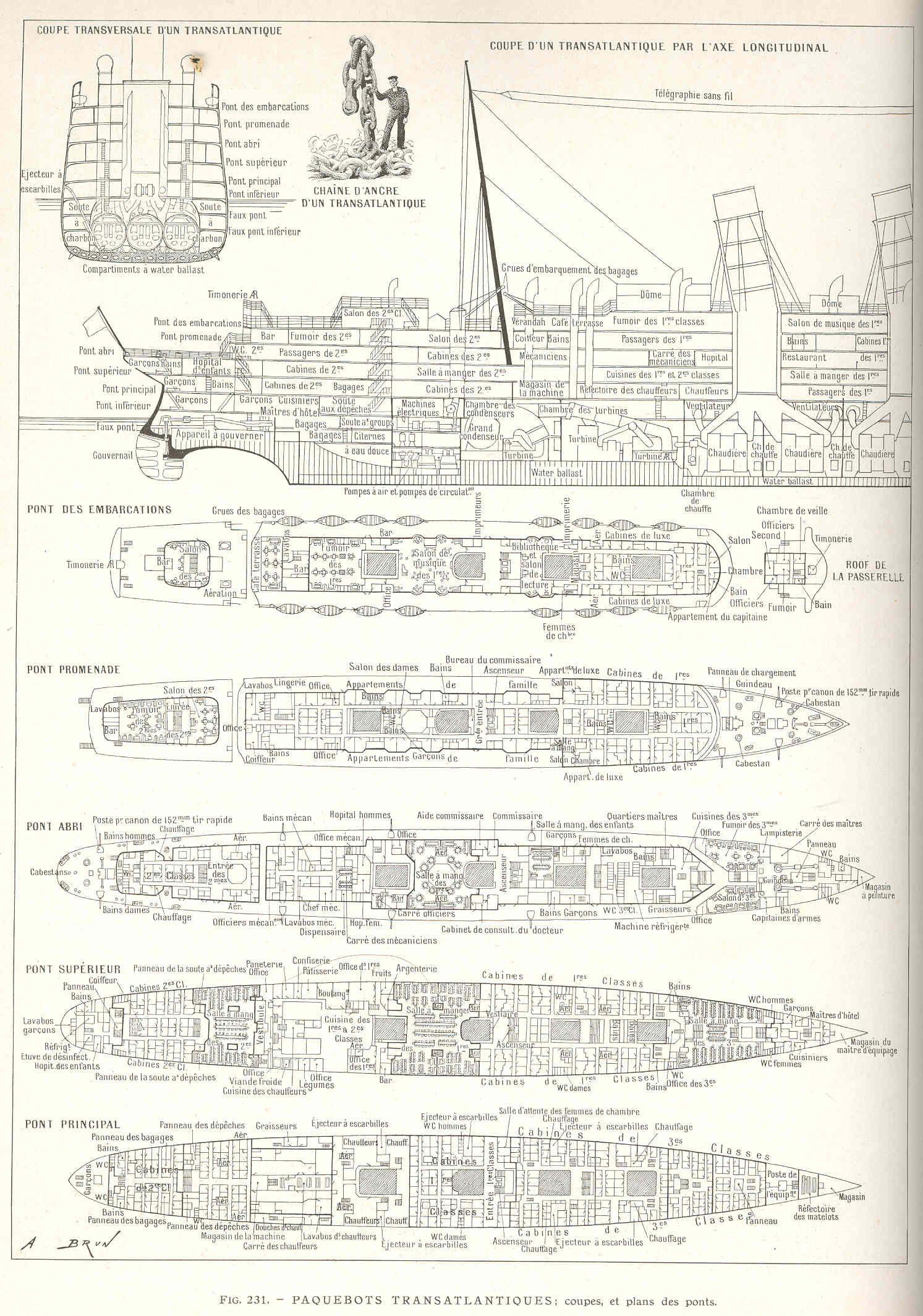 Rms Mauretania Deck Plans Rms Mauretania Passenger Ship Deck Plans
