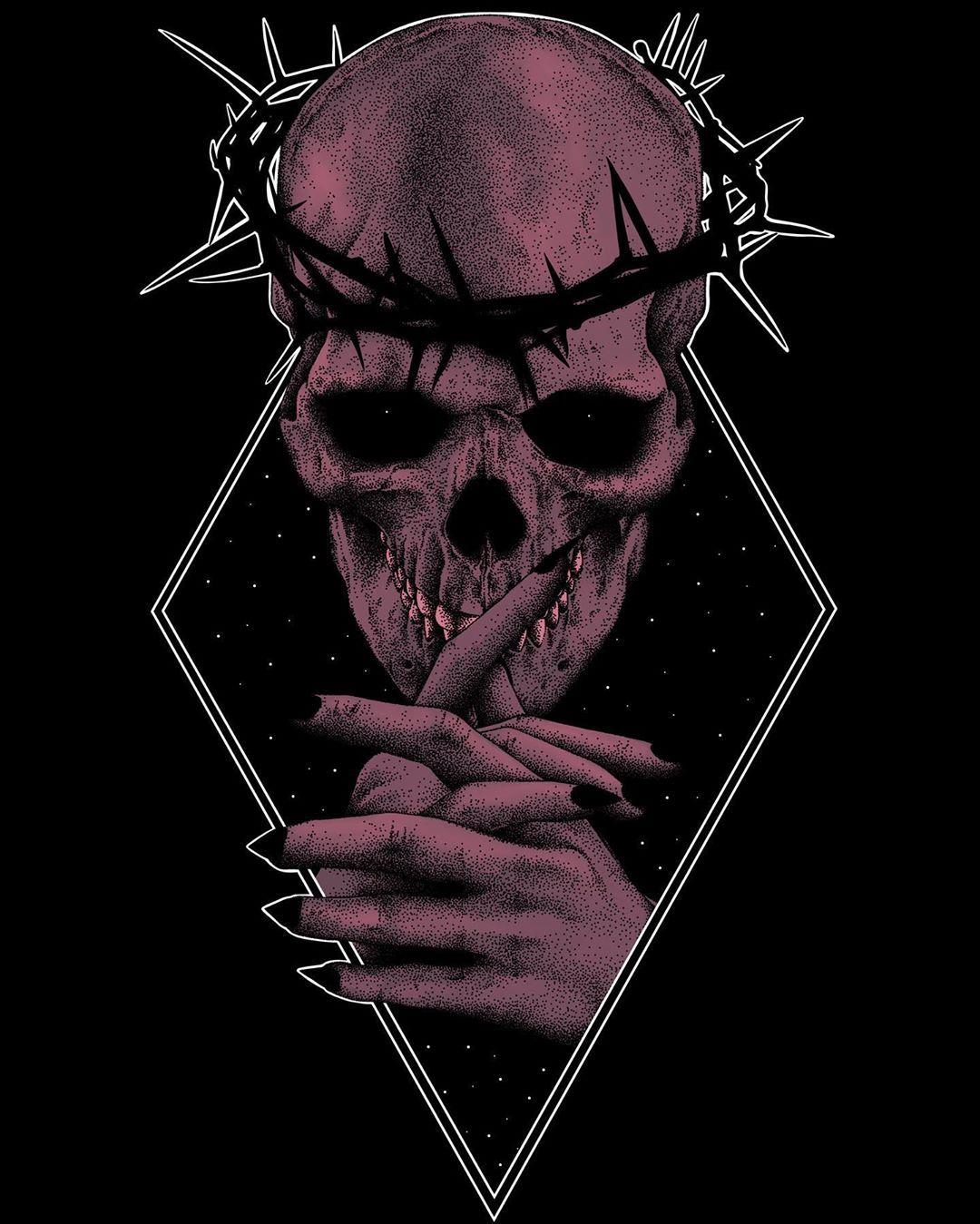 """Sergey Svetov on Instagram: """"• wikingerzug • in color • sold • #skull #skulls #skullart #skulltattoo #skeleton #darktattoo #darkart #darkarts #darkartist #darkartists…"""""""