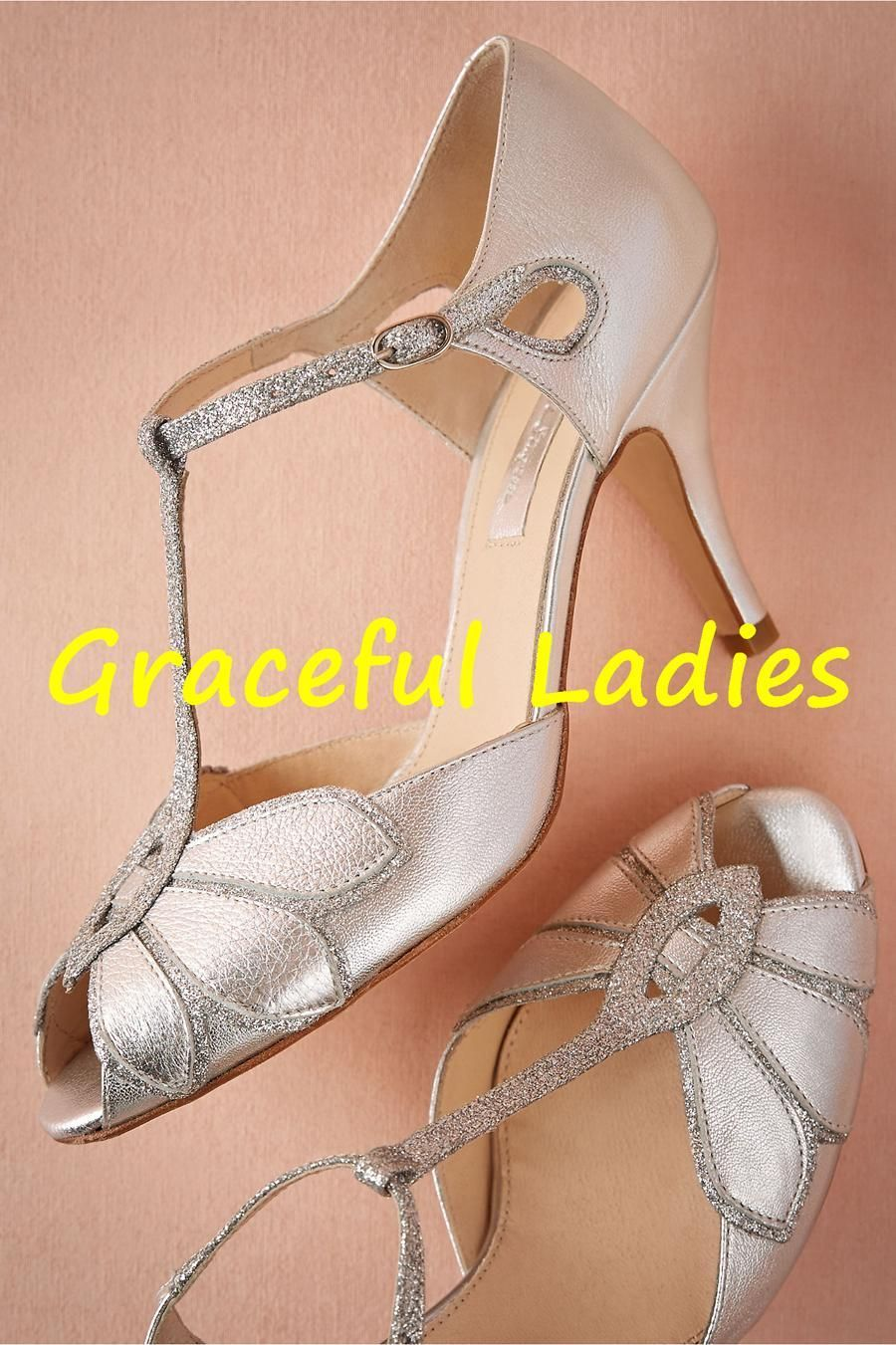 Vintage Gold Wedding Shoes Women Pumps Kitten Heel T Straps Buckle Closure Leather Party Dance 3 High Heels Sandals Custom Made Size