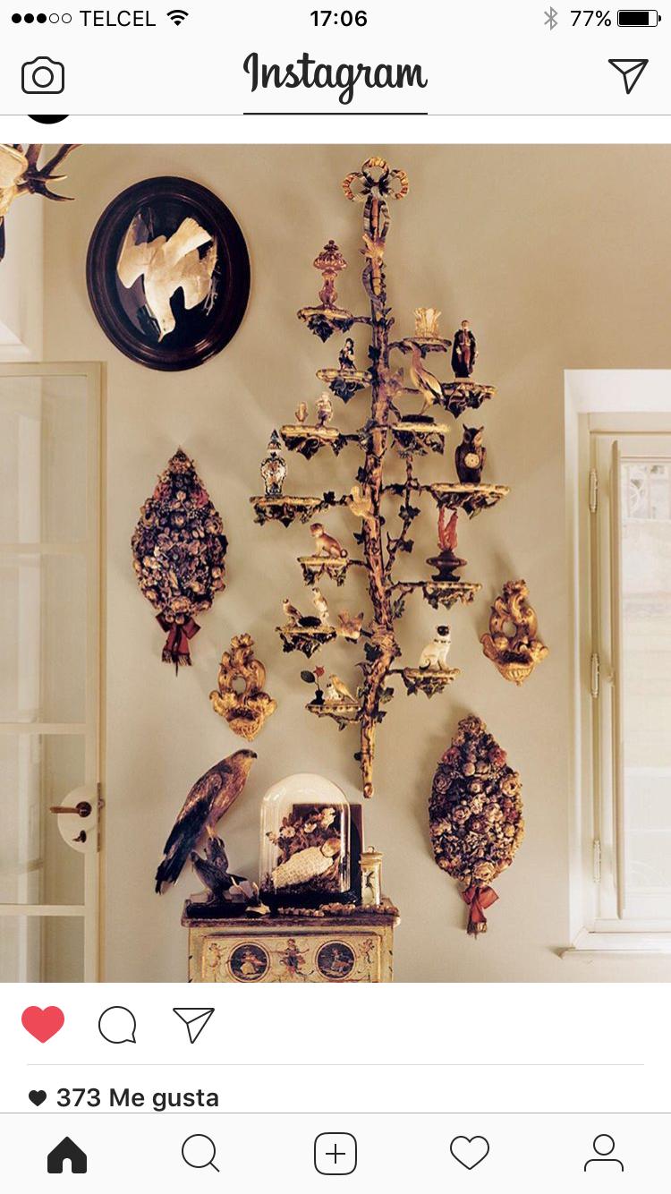 Arbol de navidad rococo interiores dise o y decoracion for Decoracion rococo