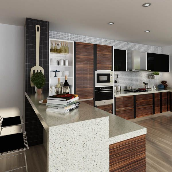 kitchen cabinets, PVC, wood grain, OP14-PVC01 | African Projects ...