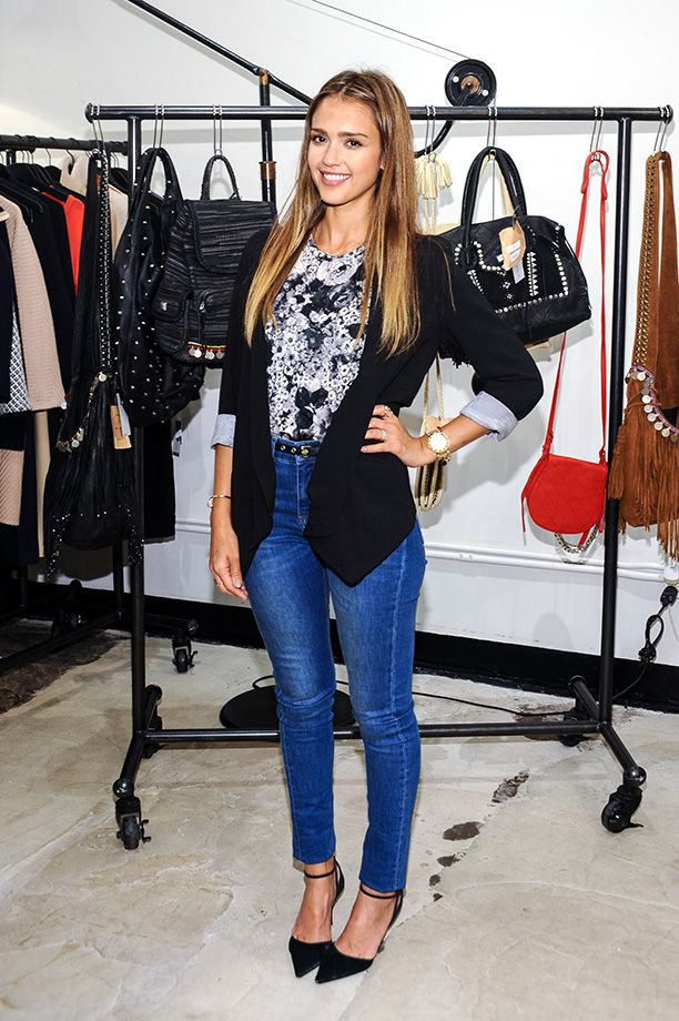 Street Style Jessica Alba Smart Casual Outfits Pinterest Jessica Alba Smart Casual And