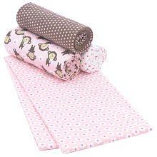 Carter's Wrap Me Up Receiving Blanket 4-Pack - Pink Monkey $17 at BabiesRus