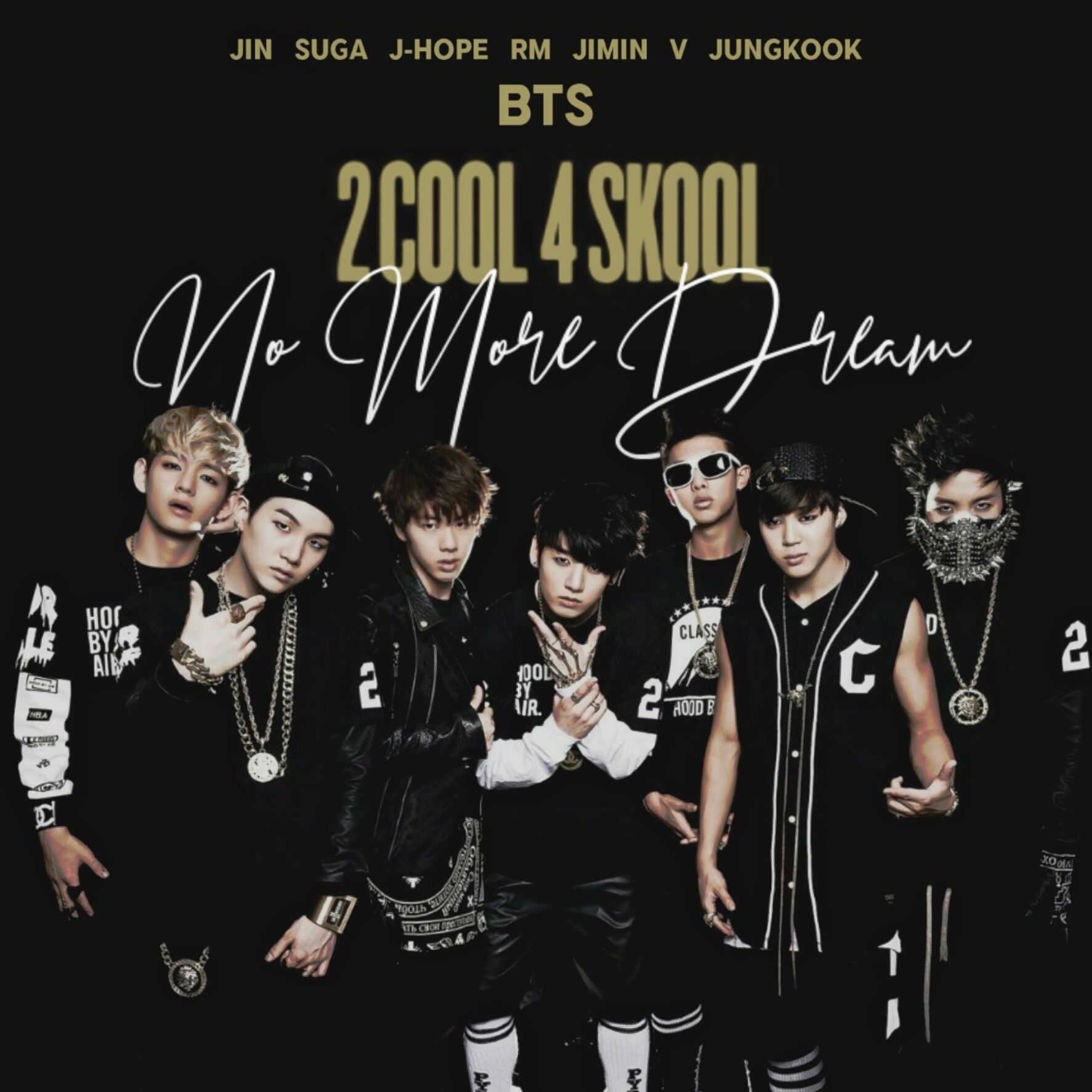 Bts No More Dream 2 Cool 4 Skool Album Cover By Lealbum Bts Walpaper Album Covers Bts Predebut