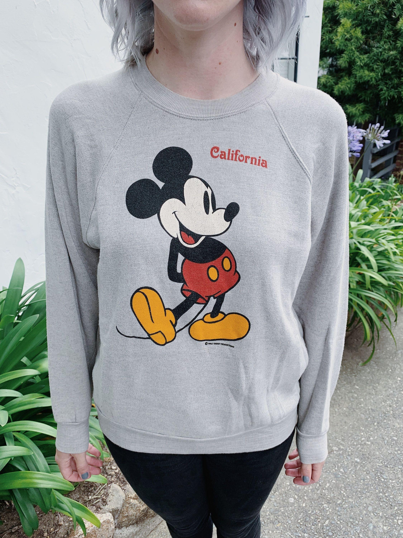 70 S Vintage Mickey Mouse Disney Disneyland California Souvenir Pullover Grey Crewneck Sweatshirt Vintage Mickey Vintage Mickey Mouse Disneyland California [ 3000 x 2250 Pixel ]