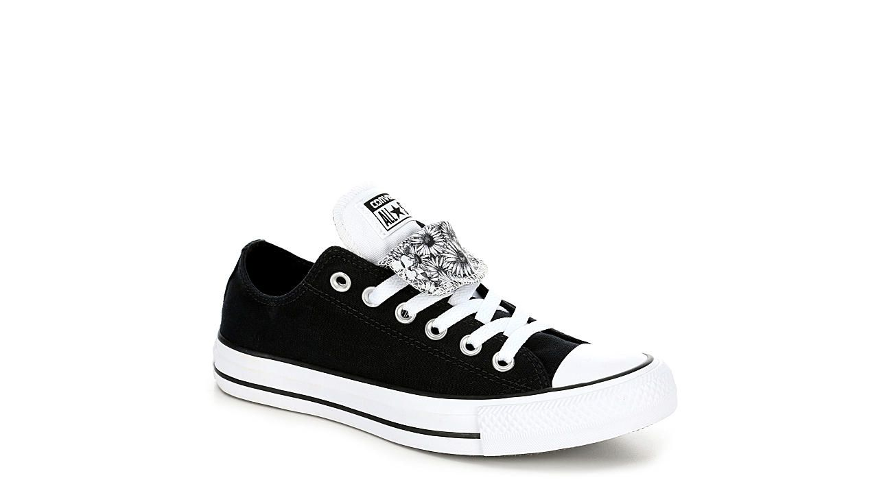 Black Converse Womens Double Tongue Ox Athletic Rack Room