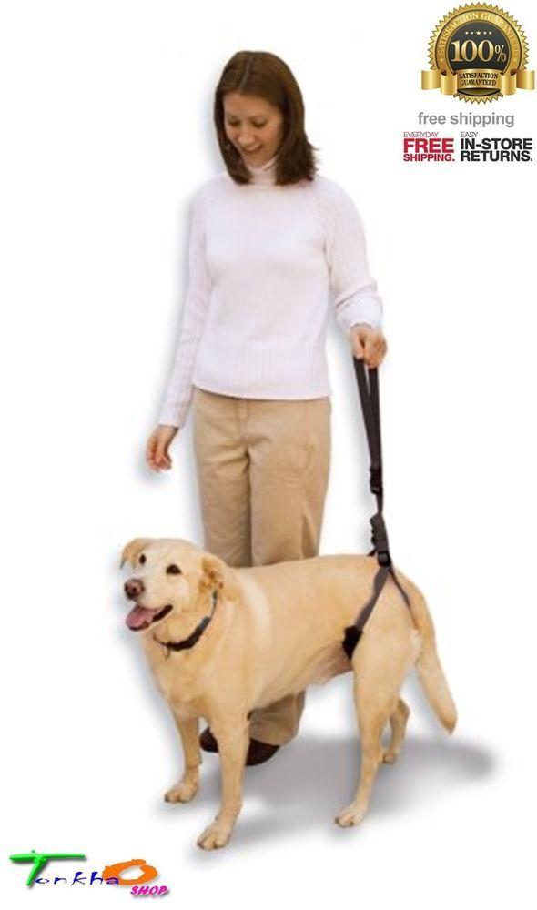 Petmate Dogs Harness Leg Hips Support Dog Mobilty Bottom Up Hind Leash Black Support Dog Pet Mat Dog Harness