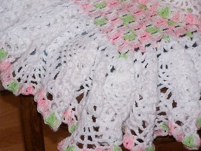 Free Crochet Pattern Ruffle Edging : CROCHET RUFFLE EDGING BABY BLANKET ? Only New Crochet ...