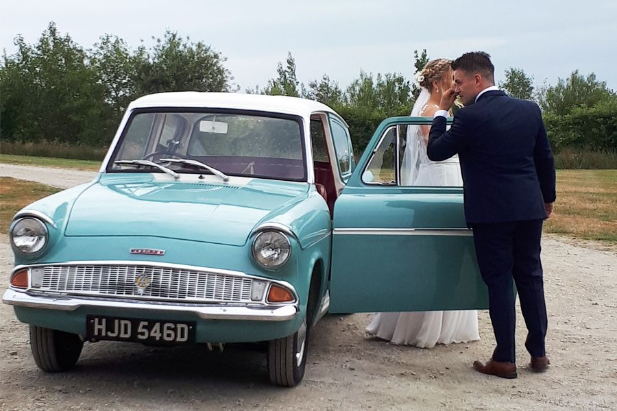 Harry Potter Car Hire For Weddings In Northern Ireland 1965 Ford Anglia 105e Ford Anglia Old School Cars Car Hire