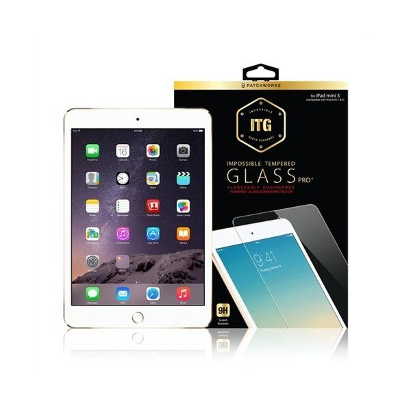 Patchworks ITG PRO Plus Tempered Glass iPad Mini 3 2 1 - Clear