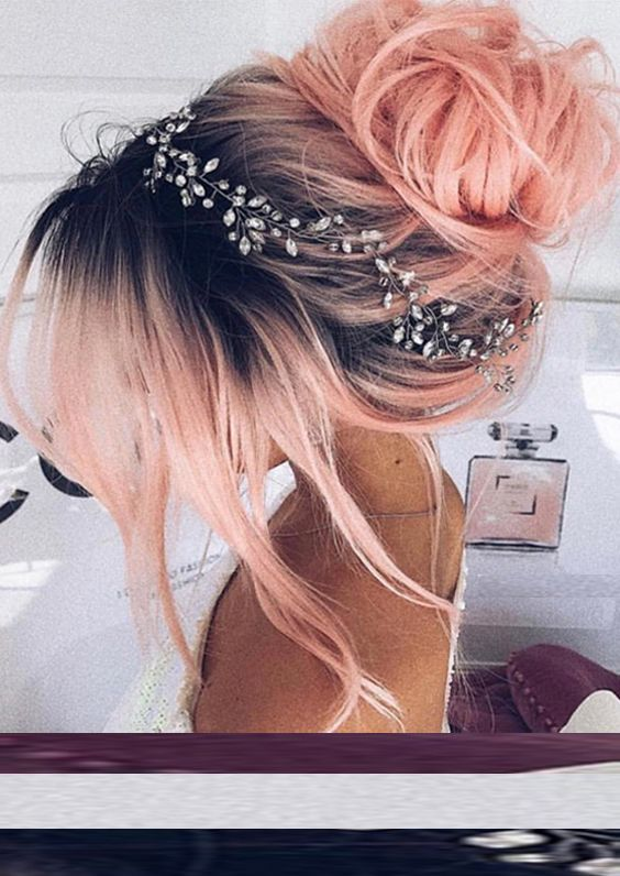 43 Edgy Bride Updos with Hair Accessories 2017-2018 | Stylish hair ...