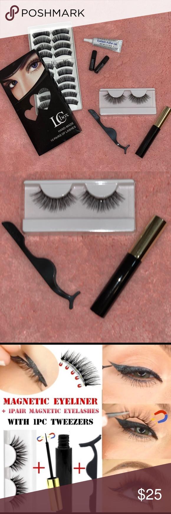 Kit magnetic eyeliner with magnetic eyeslashes A completely fashion kit to use ....    Kit eye-
