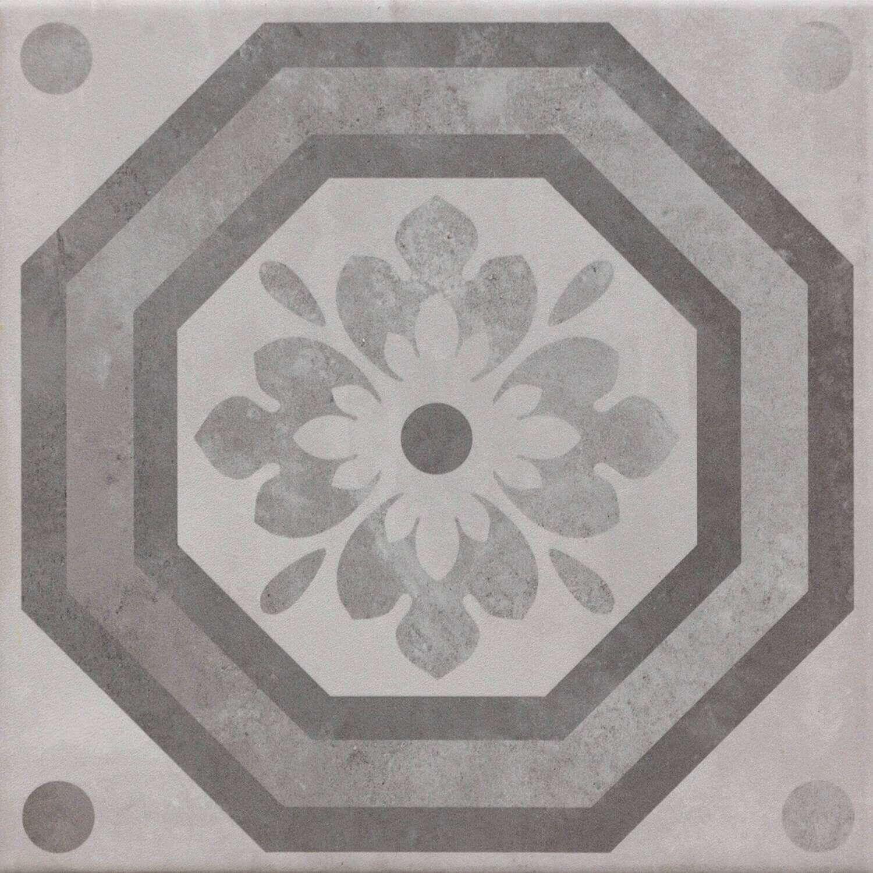 Fliesen Mit Muster Bodenfliesen Grau PatchworkLook Günstig - Bodenkacheln kaufen