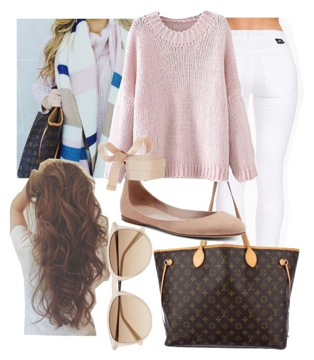 """""""Untitled #242"""" by ana-gabriela801 on Polyvore featuring Dr. Denim, Louis Vuitton and Witchery"""