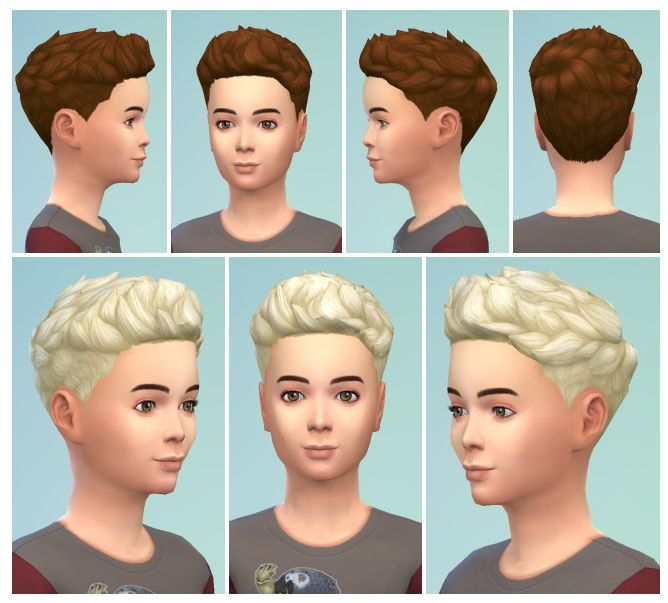 Swepthair For Boys At Birksches Sims Blog Via Sims 4 Updates Sims