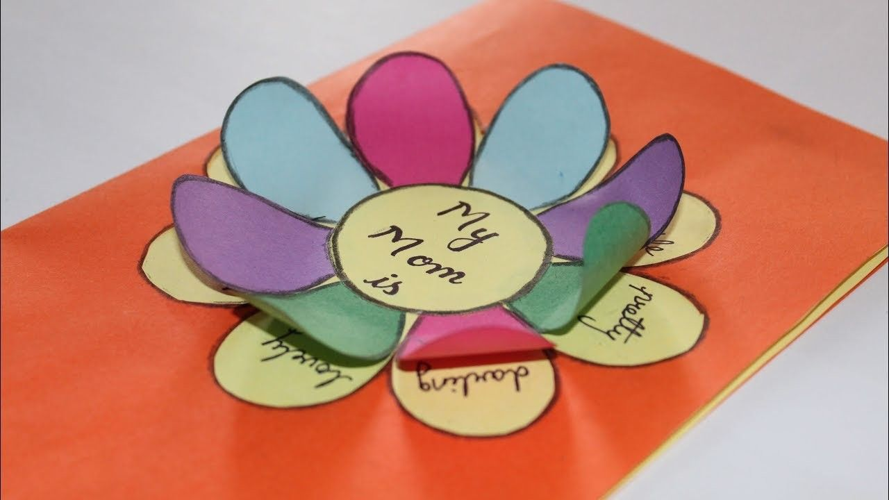 Easy mothers day card ideas for kids children mothers