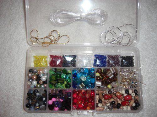 Starter Variety Jewelry Making Bead Kit, Crystals,lamp Beads,findings,tibetan,etc