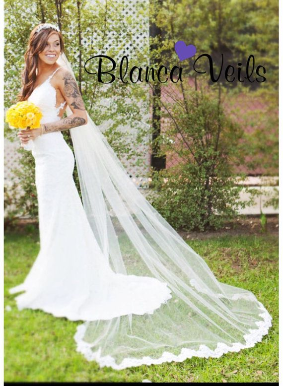 Love This Partial Lace Wedding Veil Only 69