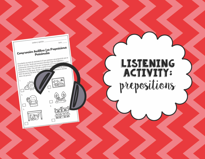 Listening Activity Prepositional Phrases