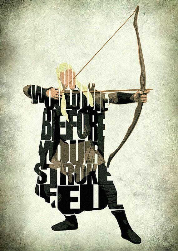 Legolas talkin ta Eomer is it also in the book i can't ...