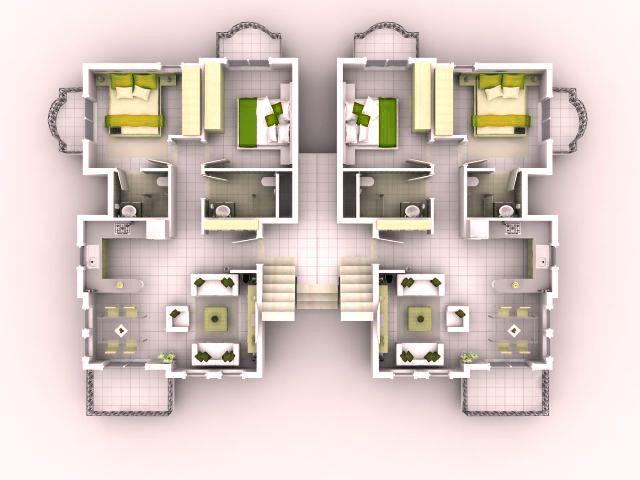 Good 3d House Blueprints And Plans With 3d House Plan 3D Floor - copy blueprint design ideas